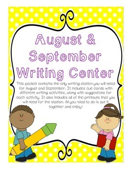 Writing Center August and September