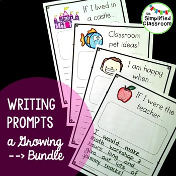 First Grade Writing Pages / Prompts