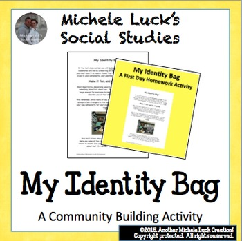 First Homework Assignment Identity Bag for Back to School
