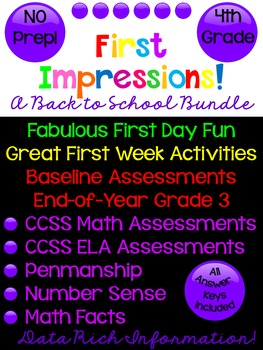 Back to School Bundle! First Day & First Week Activities &