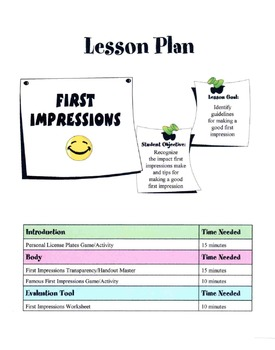 First Impressions Lesson