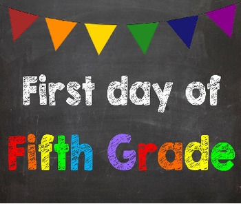 First & Last Day of School Bundle for 5th Grade - SAVE wit