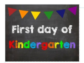 First & Last Day of School Bundle for Kindergarten - SAVE