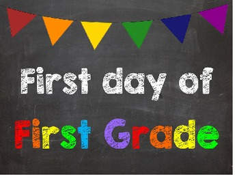 First & Last Day of School Bundle with 1st Grade Diploma -