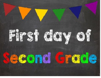 First & Last Day of School Bundle with 2nd Grade Diploma -