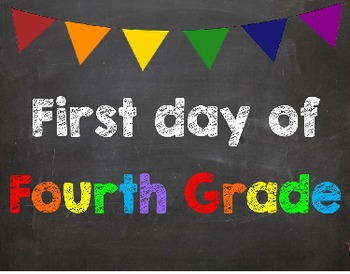 First & Last Day of School Bundle with 4th Grade Diploma -