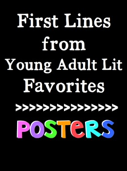 First Lines from Young Adult Lit for the Middle School Cla