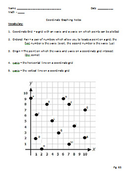 First Quadrant Coordinate Graphing