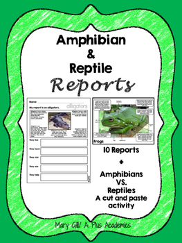 Second -Third - Fourth Grade Science - Amphibian and Repti