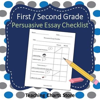 First / Second Grade Persuasive Essay Writing Checklist (L