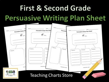First & Second Grade Persuasive Essay Writing Plan Sheet (