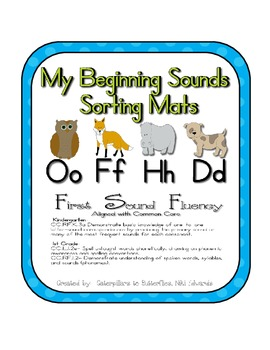 First Sound Fluency- Sorting Mats - Common Core Aligned (O
