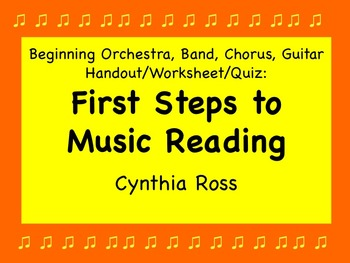 First Steps to Music Reading