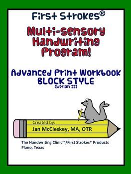 First Strokes Advanced Print BLOCK Workbook