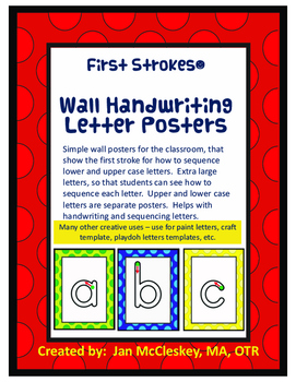First Strokes Alphabet Wall Charts and BONUS Activities!