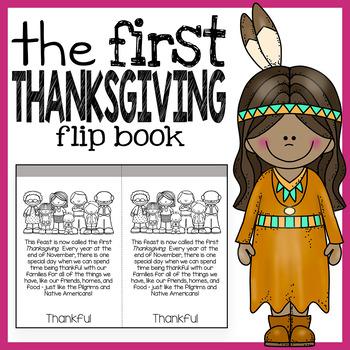 First Thanksgiving Story Flip Book