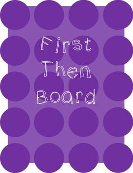Autism First Then Board