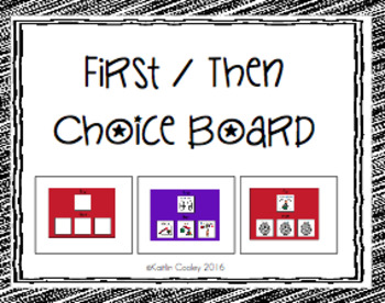 First/Then Boards - 3 Then Choices