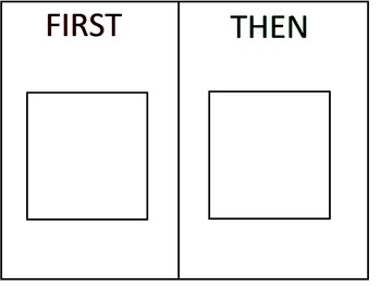 First Then Schedule Board BW VERSION