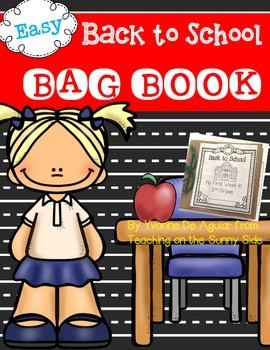First Week Back to School Paper Bag Book
