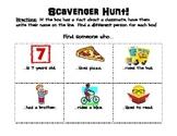 First Week Human Scavenger Hunt! (Back to School)