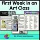 Back to School Art Lessons - First Week Of Art Class