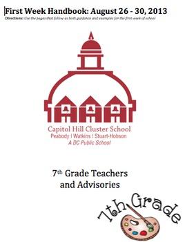 First Week Of School Plan - Building Wide