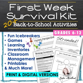 Back to School Survival Kit:  20+ First Week Activities an