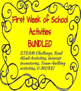 First Week of School Activities BUNDLED