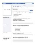 """First Week of School """"Facebook"""" Profile"""