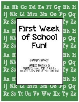 First Week of School Fun