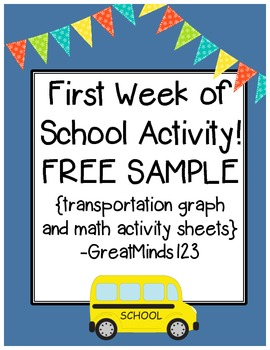 First Week of School Resource - FREE SAMPLE! {transportati