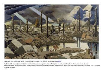 First World War (WW1) - Art Interpretation task