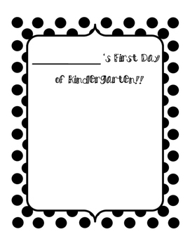 First and Last Day of Kindergarten Drawing Template