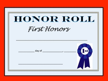 First and Second Honor Awards