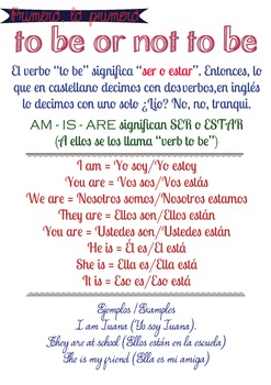 First approach: Verb To be for Spanish Speakers
