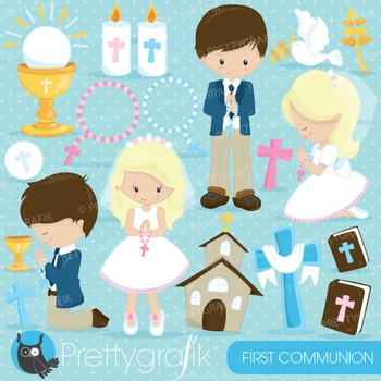 First communion clipart commercial use, vector graphics, d