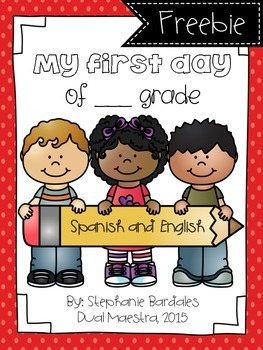 First day of School Book Spanish/English