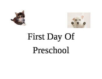 First day of preschool sign