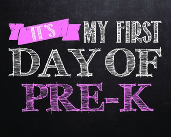 """First day of..."""" printables for Pre-k - 12th grade. **PINK"""