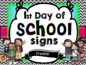 First day of school editable sign Freebie