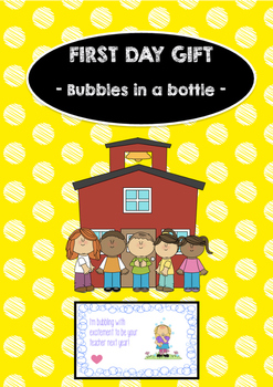 First day of school gift for students - bubbles