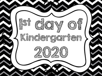First day of school signs (daycare-preschool-K-12th grade,