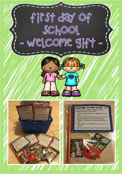 First day of school - welcome gift tag