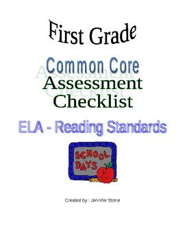 First grade Common Core Language Arts Checklist
