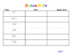 First grade journeys rainbow write unit 2