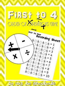 First to 4: An Order of Operations Game