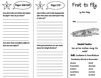 First to Fly Trifold - Journeys 6th Grade Unit 5 Week 2 (2011)