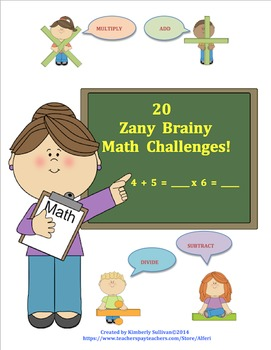 Back to School Bundle 40 Math Challenges! Early Finishers Centers