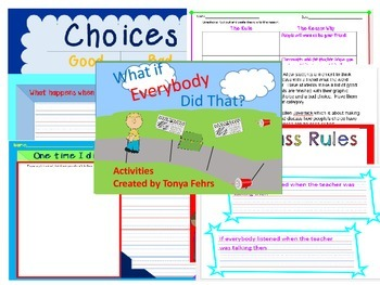 First week of school activities:  What if Everybody Did That?